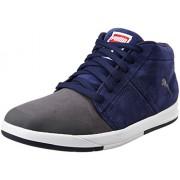Puma Men's Funist Demi Nu Asphalt and Peacoat Leather Sneakers - 7 UK/India (40.5 EU)
