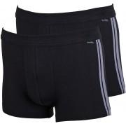 Schiesser Shorts Black Stripe (2Pack) - Grau XXL