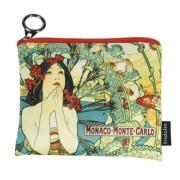 FRI.19276 Mini pénztárca textil,12x1,5x10cm,Mucha:Monte Carlo