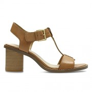 Clarks Women's Glacier Ray Brown Leather Fashion Sandals - 5.5 UK/India (39 EU)