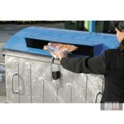 1100 l szelektív fém konténer -papír