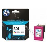 Касета HP 301, Tri-color, p/n CH562EE - Оригинален HP консуматив - касета с глава и мастило