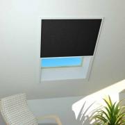 Hecht Sonnenschutz Dachfenster-Plissee, 110x160, Aluminium Schwarz