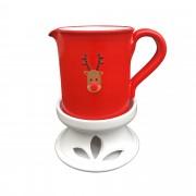 Masszázsolaj melegítő: Rudolf, piros - fehér