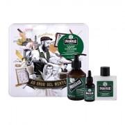 PRORASO Eucalyptus Beard Wash 200 ml sada šampon na vousy 200 ml + balzám na vousy 100 ml + olej na vousy 30 ml + plechová dóza pro muže