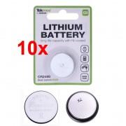 Batteria a bottone al litio CR2450 Tekmee set 10 pz