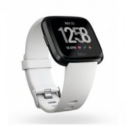 Смарт часовник Fitbit Versa NFC, White Band, Black Case, Wi-Fi, Bluetooth, FB505GMWT-EU