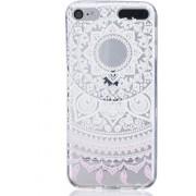 GadgetBay Mandala transparant hoesje patroon TPU case iPod Touch 5 6 7 - Wit Lichtroze
