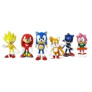 "Sonic Multi Pack 2"" Action Figure (6 Classic Figures - Knuckles, Sonic, Super Sonic, Amy, Metal Soni"