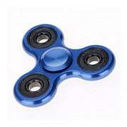 Fidget Spinner metalic look albastru