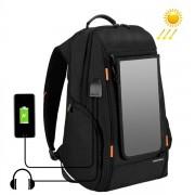 HAWEEL Multifunktions ryggsäck för laptop med solcellspanel för laddning