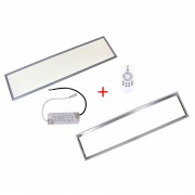 Patona LED panel 300x1200x9 frame trasnformer 36W 3300lm 4000-4500K natur white AC 200-240V Frame dimmable Transformer complet set 30x120x0,9cm