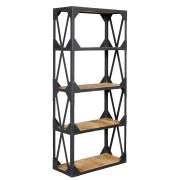 Ascot Industrial Large Bookcase Fully Assembled