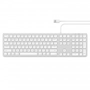 Satechi USB klávesnice pro Mac - Satechi, Aluminum Wired Keyboard Silver