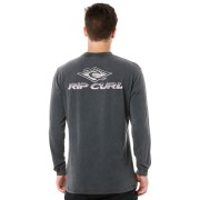 Rip Curl Heritage Diamond Ls Mens Tee Washed Black