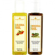 Park Daniel Premium Moringa oil and Jojoba oil combo of 2 bottles of 100 ml (200ml)