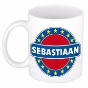 Bellatio Decorations Voornaam Sebastiaan koffie/thee mok of beker