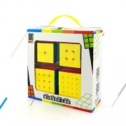Ting-W Speed Cube Puzzle Pack   2X2 3X3 4X4 5X5 Stickerless Set 4 Pieces Magic Cubes Collection Toys Brain Teaser