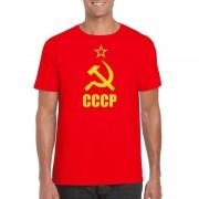 Bellatio Decorations Rood CCCP / Sovjet-Unie t-shirt voor heren