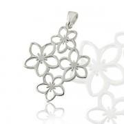 Medalion Borealy Argint 925 White Flower