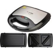 La Italia By Renesola Multi Grill DX 820 Watt 2 In 1 Sandwich And Grill Maker 2 Years (On Site Warranty) Grill(Silver)