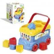 Clementoni Mickey Mouse - Autobús Con Piezas Para Encajar Clementoni 14395