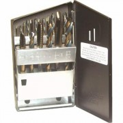 Viking Drill 18-Piece Super Premium Tap and Drill Bit Set with Case - Model 57580