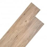 vidaXL Подови дъски от PVC 5,26 м² 2 мм цвят кафяв дъб