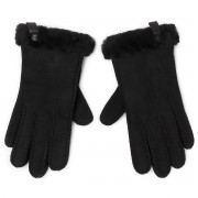 Ръкавици UGG - W Shorty Glove W Leather Trim 17367 Black