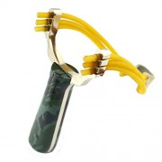 1P Powerful Sling S Aluminium Alloy Slings Camouflage Bow Catapult Outdoor Hunting Slings Hunt Toys Accessories