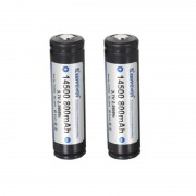 Meco 2pcs KeepPower P1450C 3.7V 800mAh Protected Rechargeable 14500 Li-ion Battery