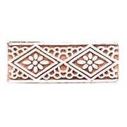 Floral Decorative Blocks Woodblock Stamp Brown , Wooden stamps for Hand block printing By Handicraft-Palace