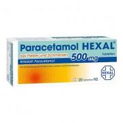 PARACETAMOL 500 mg HEXAL b.Fieber u.Schmerzen Tab. 20 St