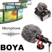 BOYA Compact On-Camera Video Microphone Youtube Vlogging Interview Recording Mic For IOS For Android Smartphone For DSLR Cameras