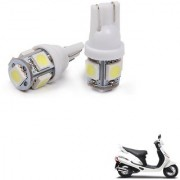 Auto Addict Scooty T10 5 SMD Headlight LED Bulb for Headlights Parking Light Number Plate Light Indicator Light For Mahindra Duro
