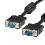 Кабел Roline, VGA(м) към VGA(м), 3m, черен, екраниран