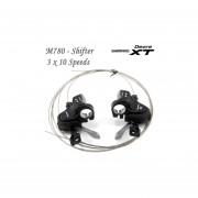 Shimano Deore XT M780 Shifter 3 x 10 Speed Preto com Display engrenagem