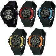 All Light Pack of 5 Digital Sports Watches ( Combo Offer 5 Pcs)