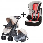 Combo Coche Travel System + Butaca Auto Snaply 36Kg.