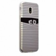 Husa Silicon Transparent Slim Look Black Motorola MOTO C