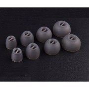 VEVER 4 Pairs Replacement Eartips Earbuds for Sennheiser Momentum I and Momentum G In Ear Earphones (XS/S/M/L) (Gray)