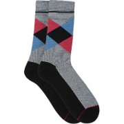 Soxytoes The Modern Scotsman Black Cotton Calf Length Pack of 1 Pair Argyle for Men Formal Socks (STS0017A)