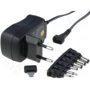 Adapter 1000mA 3V - 12V MW3K10 stabil, kapcsoló üzem