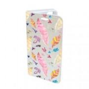Husa Flip Cover Book Case Design 70 Feather Multicolor Samsung Galaxy S7 Edge