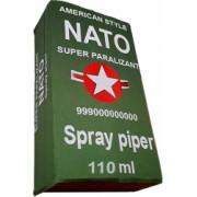 Spray paralizant iritant lacrimogen autoaparare cu piper NATO 110 ml in cutie