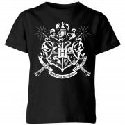 Harry Potter Camiseta Harry Potter Escudo Hogwarts - Niño - Negro - 3-4 años - Negro