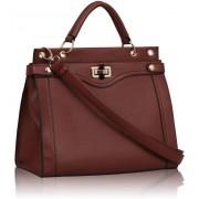 Kabelka LS0056 - Burgundy Fashion Tote Handbag