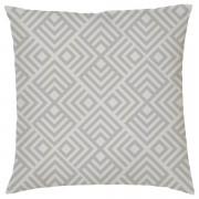 Own Brand Geometric Chevron Print Cushion - Grey - Textured Linen - Grey