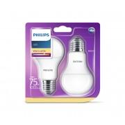 SET 2x Bec LED Philips E27/11W/230V