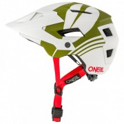 O'Neal O`Neal Defender Helmet Nova Casco per bici (XS/S/M, grigio/bianco/olivia)